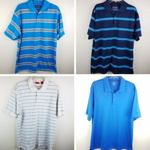 Set of 4 Golf Casual Dress Polos Mens Size Large